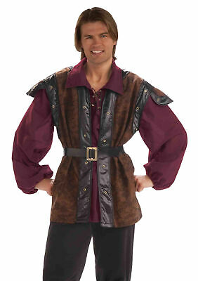Mens Medieval Renaissance Mercenary Vest Costume Dress Fm68201
