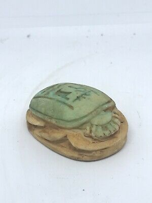 Ancient Egyptian Glazed Faience Scarab