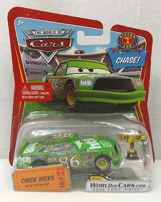 2009 Disney Cars #104 CHASE CHICK HICKS with PISTON CUP Race-O-Rama