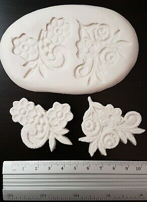 Floral lace making sugarcraft mould