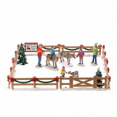 Lemax Village Collection Reindeer Petting Zoo Set Of 17 93434 New 2020 Christmas