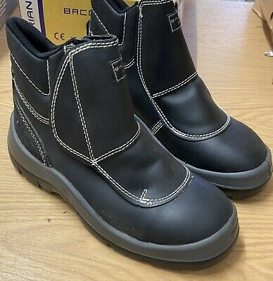 Centek FS332 GLYDER Mens Cosy Water Resistant Leather Welding Safety Boots Black
