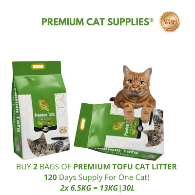 30L Natural Cat Litter - 420% Absorbency, Extra Strong Clumping, Organic Bio
