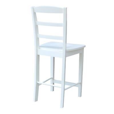 """Madrid Counter height Stool - 24"""" Seat Height, White"""