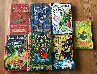 How to Train Your Dragon Books 1,2,4,5,6,7 & Short Story (Excellent Condition)