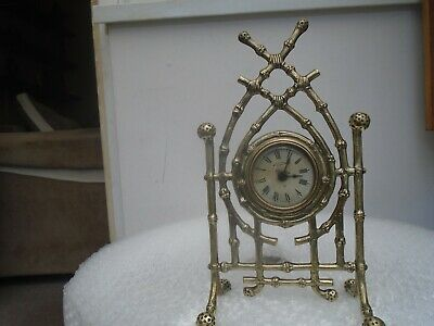 Antique Ansonia clock company clock with lovely stylish brass frame  ATTIC FIND