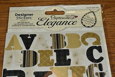 Papermania Sparkling Elegance - Designer Stickers (Silk Screened)