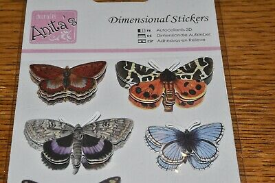 Anita's 3D Dimensional Stickers: Butterflies 10 pieces new