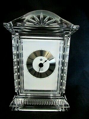 Beautiful Royal Albert Glass Mantle Clock