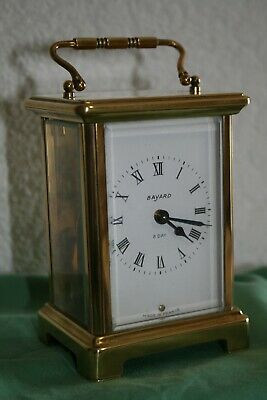 Antique French Brass Carriage Clock by Duverdrey & Bloquel