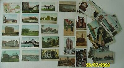 Vintage Postcards c.1905-15,100,Various USA State, Some Foreign, Topics, Used/Un
