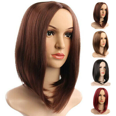 Womens Ladies Natural Short Straight Hair Wigs Bob Long Curly Cosplay Wig