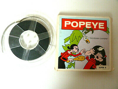 Super 8mm cine film with Popeye in 'Caveman Capers'