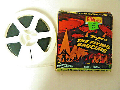 Super 8mm Columbia Pictures B&W cine film 'Earth vs The Flying Saucers'
