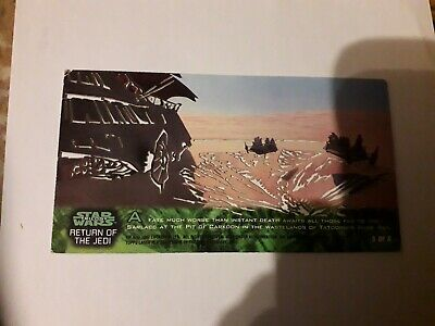 Star Wars Trilogy Widevision Laser Cut Chase Card No. 5 of 6 By Topps