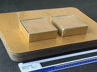 Caspari Felt-Backed 10x Table Place Mats & 16x Coasters in Gold Handcrafted USA