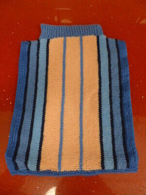 Hot Water Bottle Cover,Knitted,Blue,Heat,Night