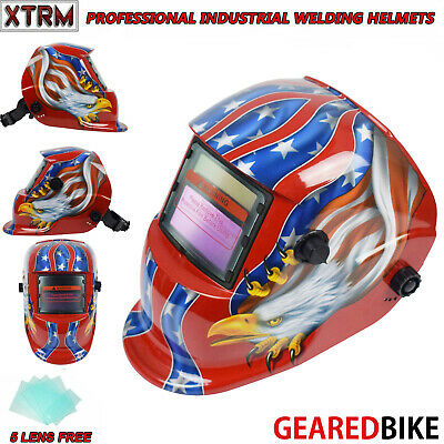 Auto Darkening Welding Helmet With Solar Panel IV UV Protection CONFEDERATE