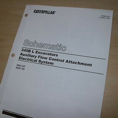 Caterpillar 345B EXCAVATOR Auxiliary Flow Control Electrical Schematic manual