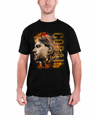 Official Kurt Cobain Coloured Side View Unisex T-Shirt Nirvana Nevermind Bleach