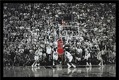 FRAMED Michael Jordan - The Last Shot 36x24 Sports Poster NBA Chicago Bulls