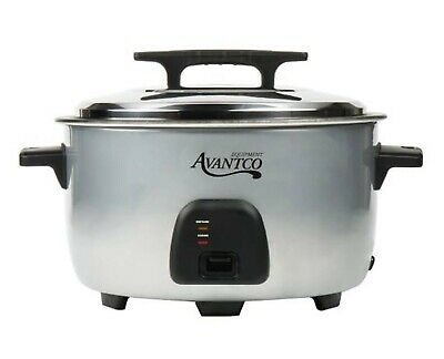 Electric Rice Cooker Warmer 1750W Silver Commercial 60 Cup 30 Cup Raw 120V New