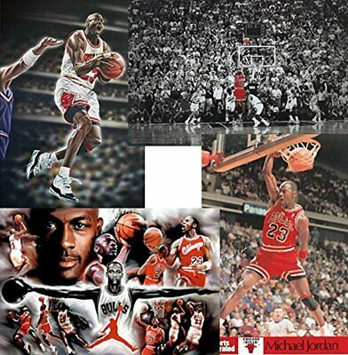 Michael Jordan 4 PACK SET 36x24 Art Print Posters Superstar Legend