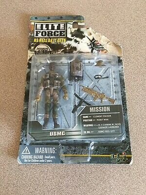 BBi 1//18 SCALE  ELITE FORCE USMC CLEMENT PACKER M-4 WITH M204 GRENADE LAUNCHER