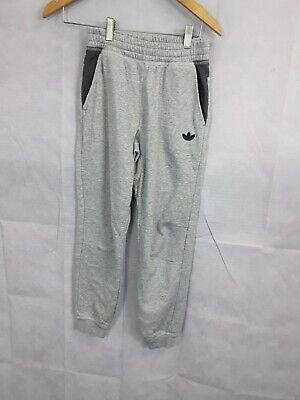 Boys Junior Tracksuit Jogger Bottoms Grey Adidas Size 10yr/12yr Sport Drawstring