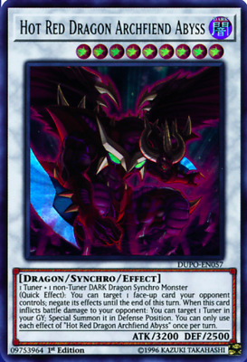 1X NM Hot Red Dragon Archfiend Abyss - DUPO-EN057 - Ultra Rare 1st Edition