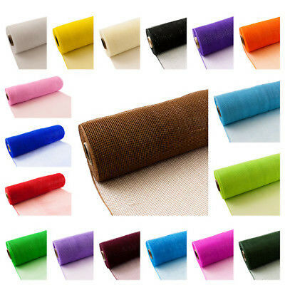 50cm x 8m Deco Mesh Polynet Rolls BUY 3 GET 1 FREE- Various Colours Available