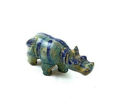 Hippopotamus Sculpture Egyptian Antique Hippo Statue Twert Goddess Of Fertility