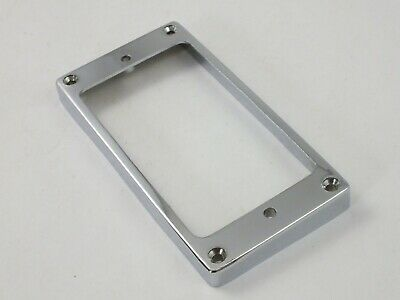 CHROME HUMBUCKER Flat based PICKUP SURROUND RINGS rising side 7-9mm