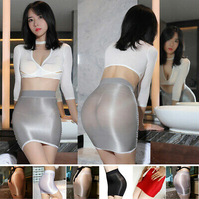 Women's See Through Stretch Tight Sexy Bodycon Mini Skirt Short Pencil Dress
