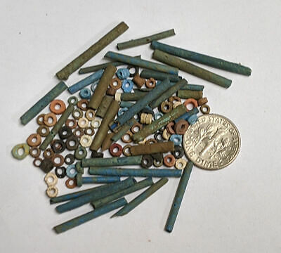 More than a Hundred 2500 Year old Ancient Egyptian Faience Mummy Beads (#M890)