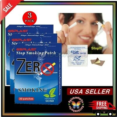 #1 BEST Quit Stop Smoking ANTI SMOKE PATCH NICOTINE FREE 3 Months 90 Patches