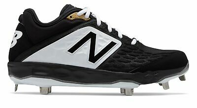 New Balance Low-Cut 3000v4 Metal Baseball Cleat Mens Shoes Black with White Size