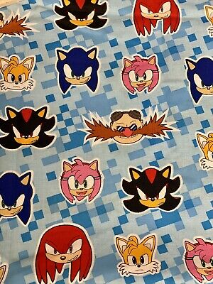 Sonic The Hedgehog Fat Eighth Multiple Characters 100 Cotton 6 95 Picclick