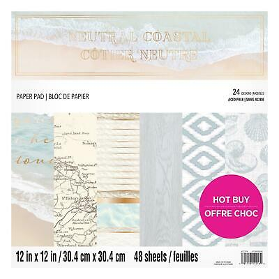 Craft Smith Design-Papierblock 30,4 x 30,4cm (48 Blatt) - Neuteral Coastal
