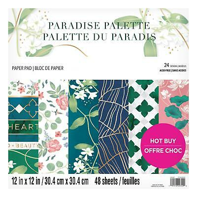 Craft Smith Design-Papierblock 30,4 x 30,4cm (48 Blatt) - Paradise Palette