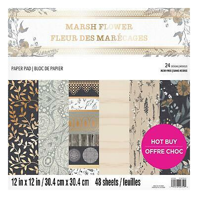 Craft Smith Design-Papierblock 30,4 x 30,4cm (48 Blatt) - Marsh Flower