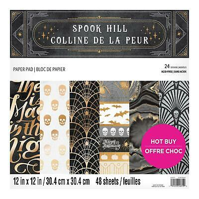 Craft Smith Design-Papierblock 30,4 x 30,4cm (48 Blatt) - Spook Hill