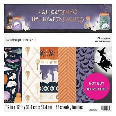 Craft Smith Design-Papierblock 30,4 x 30,4cm (48 Blatt) - Halloweeny