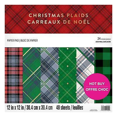 Craft Smith Design-Papierblock 30,4 x 30,4cm (48 Blatt) - Christmas Plaids