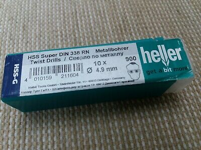 Heller HSS-G Ground Super Twist Drill Bits 10 Pack Pick Your Size German Quality
