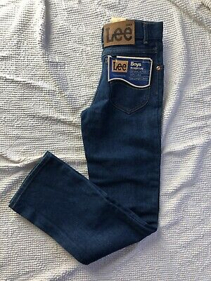 Vintage lee Kids Jeans 12 S Straight Leg Deadstock Movie Prop Cotton Made In Usa