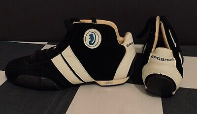 ORIGINAL BRABHAM F1 FORMULA ONE GRAND PRIX TEAM RACE BOOTS SHOES 1980's SIZE 7