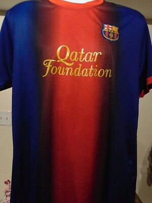 Nike Fc Barcelona Qatar Airways Soccer Home Jersey Mens Size Medium Authentic 19 99 Picclick