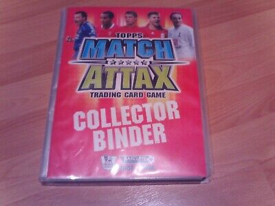 match attax folder with 357 cards inside 2007/08 season