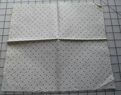 black /& white Mourning print galax 4564 1//2 yd antique 1880-90/'s cotton fabric